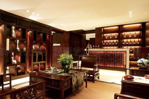新中式古典客厅设计装修图
