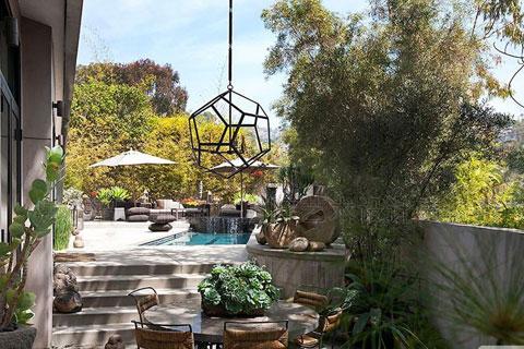 别墅庭院景观效果图片大全
