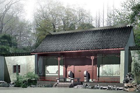 寺庙大门图片下载