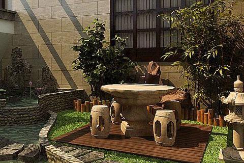 庭院装修效果图局部造景欣赏