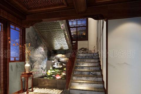 楼梯间造景设计图片
