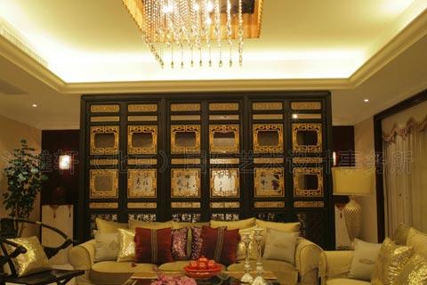 现代客厅装修图片中式风格