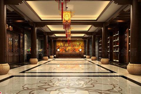 新中式酒店大堂设计图片欣赏