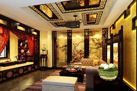 2014年最新流行的古典客厅装修效果图