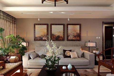 客厅中式装修设计效果图