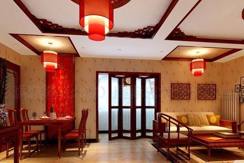 古典客厅中式装修效果图大全2013图片