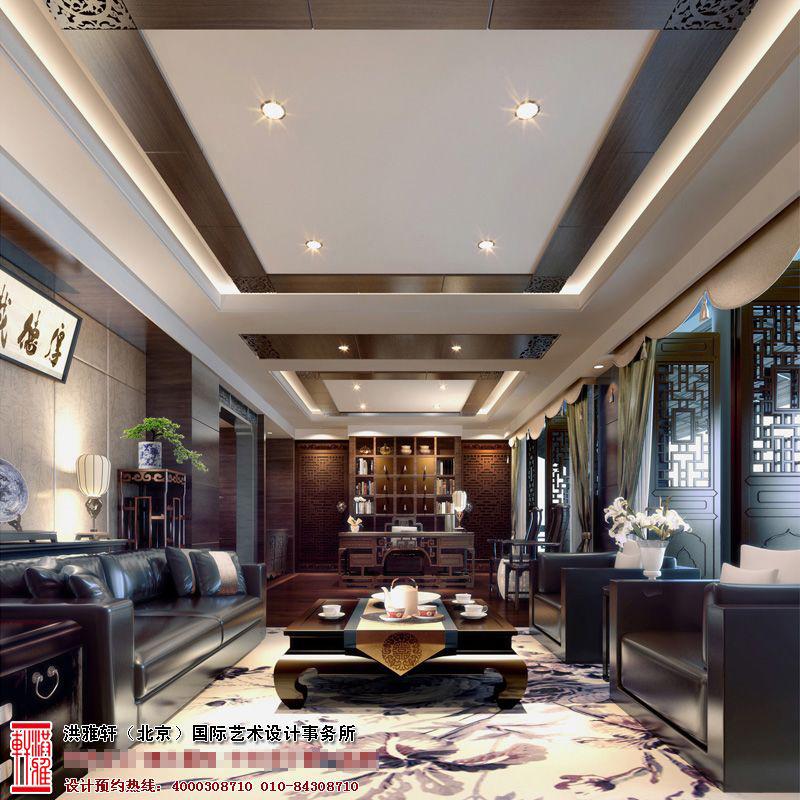 新中式风格餐厅装修效果图6.jpg