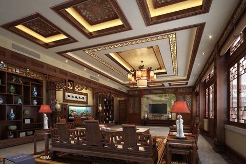 古典四合院客厅装修图片