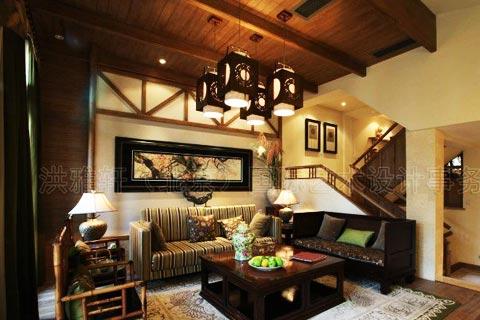 复式客厅设计装修图片