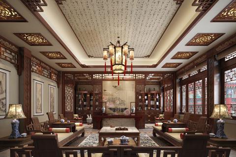 最流行四合院书房装修设计图片