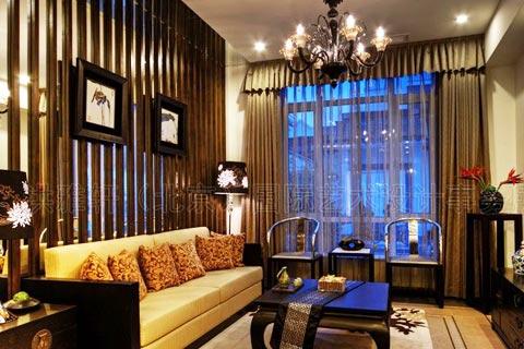 中式客厅设计效果图欣赏