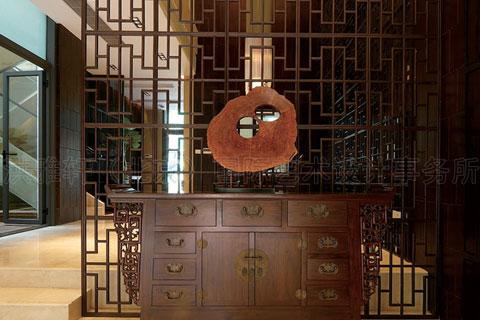 别墅玄关中式设计图