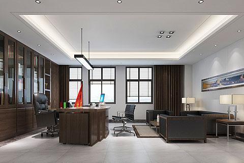 办公室中式装修效果图 新中式设计办公室效果图赏析