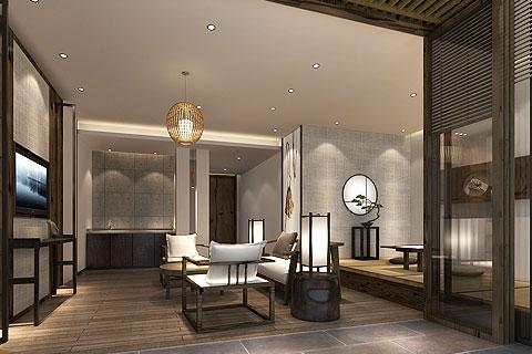 禅意风格酒店中式装修效果图 新中式酒店装修效果图赏析
