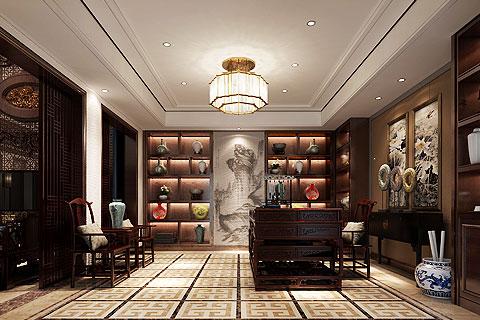 别墅新中式装修效果图 新中式设计打造现代舒适家居