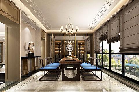 新中式别墅装修效果图 新中式设计打造不一样的别墅空间