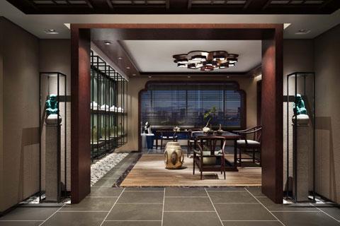 新中式茶楼装修效果图 新中式设计茶楼装修图片赏析