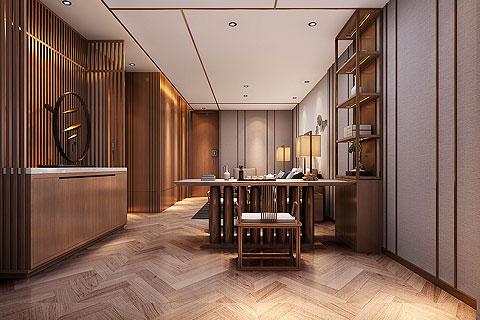 新中式办公室装修效果图 办公室新中式设计图片赏析