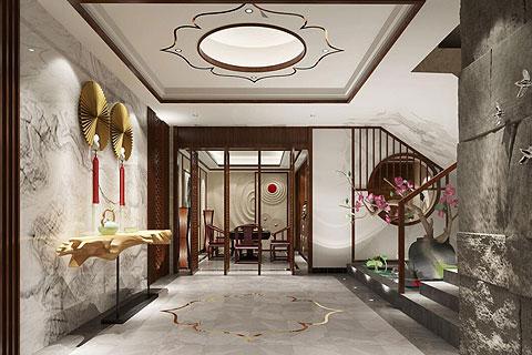 别墅新中式装修效果图 新中式设计别墅装修图片赏析
