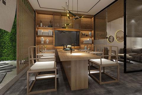 个人工作室办公区域现代中式风格装修效果图
