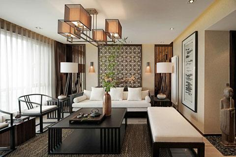 某别墅新中式风格装修效果图 纯中国风的设计
