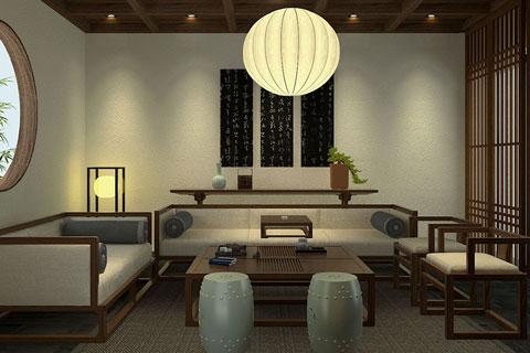 新中式风格茶会所设计效果图 大隐隐于市