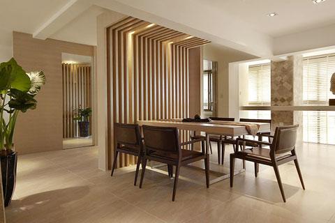 禅意风格家庭中式装修客厅设计效果图欣赏