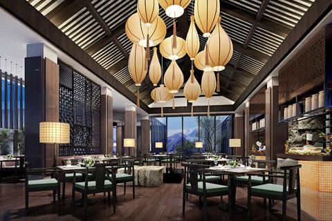 古典与简约并存 中式家装空间餐厅装修效果图欣赏