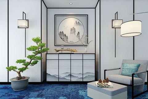 各种风格玄关设计在中式家装空间的效果图
