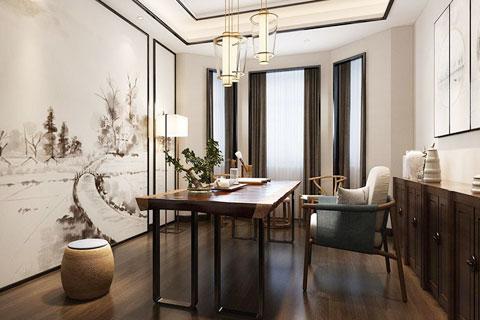 中式家装及办公空间书房中式装修效果图