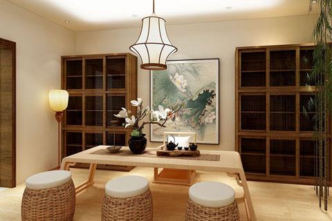 中式风格展厅设计效果图 简约而不简单