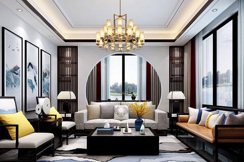 禅意风格别墅中式装修效果图一览