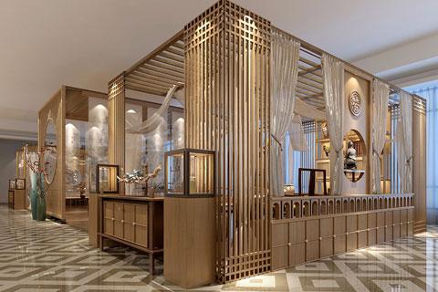 原木色禅意中式风格茶室设计效果图欣赏