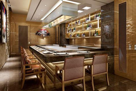 新中式风格顶层酒店空间设计效果图