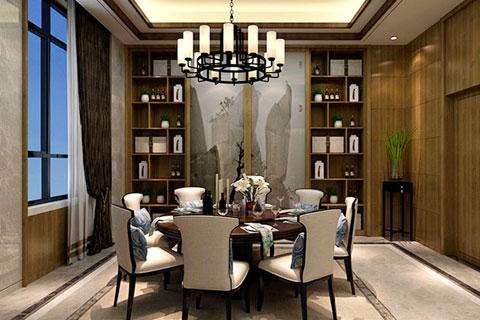 新中式风格别墅装修设计效果图 简约古韵