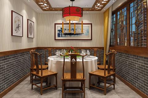 餐饮空间古典中式风格装修效果图(5P)