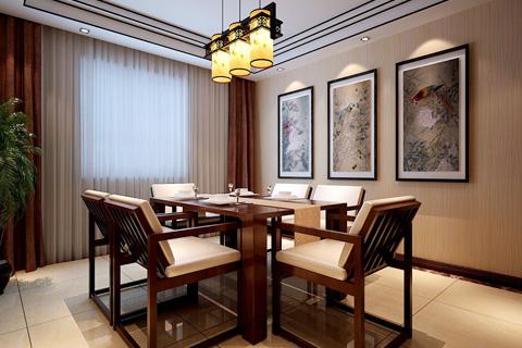 新中式风格中式家装效果图 简约而又精致