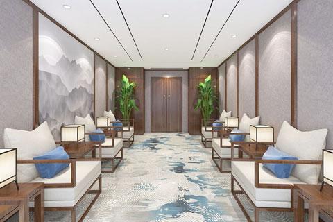 简约禅意风格酒店中式装修效果图