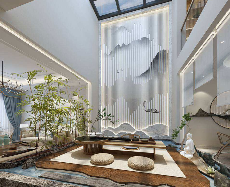 新中式风格家装设计之客厅中式装修效果图