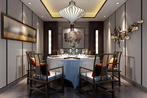 新中式风格餐厅设计装修效果图欣赏