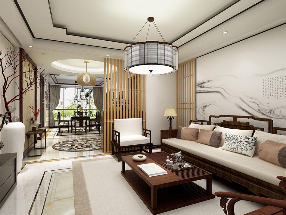 新中式风格餐厅设计装修效果图
