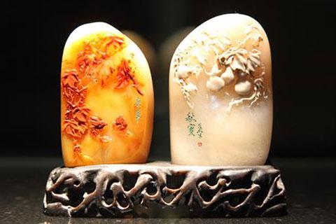 石雕中式空间配饰——石中耸松骨,石中藏竹韵