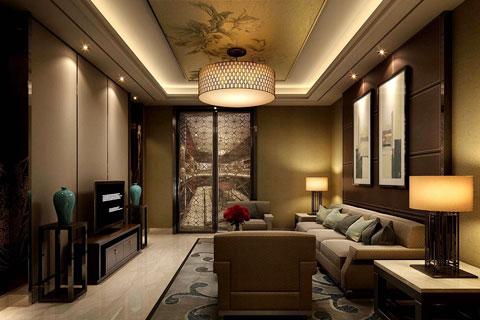 中式风格设计之家装客厅餐厅中式装修效果图