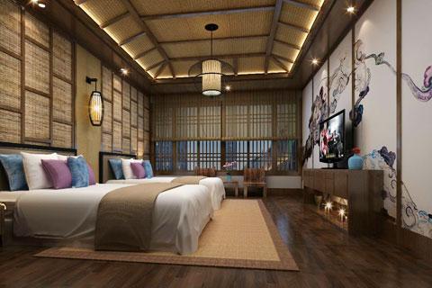 古典中式风格民宿客栈装修设计效果图