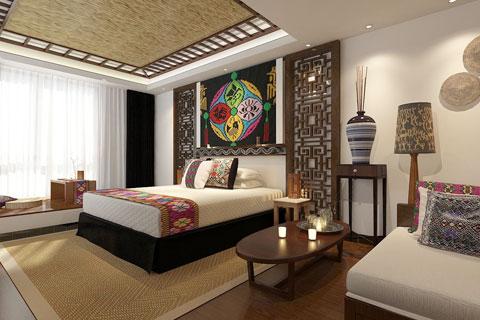 最美民宿客栈卧室装修效果图 民宿卧室布置图片