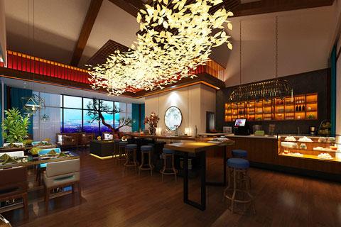 中式风格民宿酒店装修效果图方案
