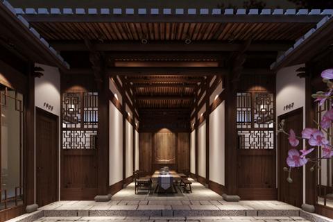 新中式风格特色民宿设计效果图全套赏析