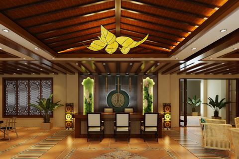 民宿客栈装修空间效果图 异域风情与中式文化的碰撞