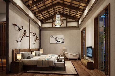 古典中式民宿设计效果图 感受典雅含蓄的中式文化