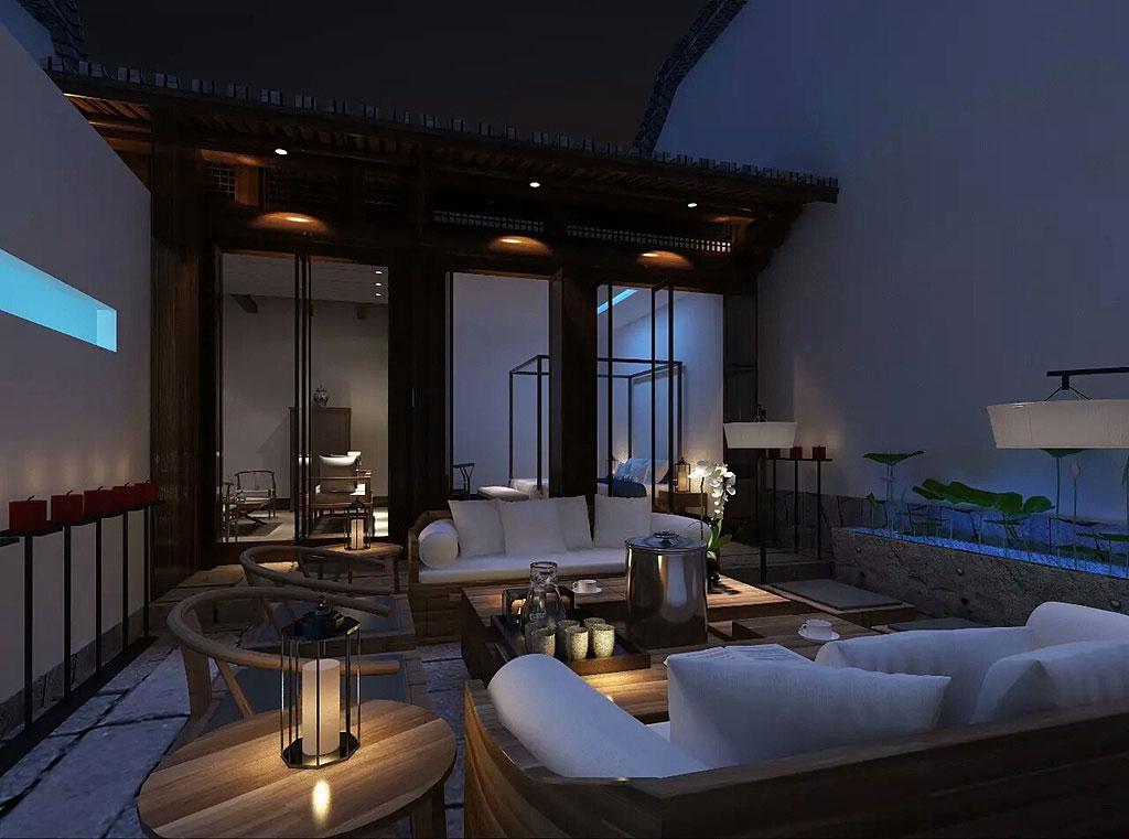 中式民宿酒店空间设计效果图